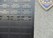 Upacara Meletakkan Plat Nama Allahyarham PB Muhammad Adib bin Mohd Kassim