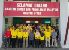 Kursus  Pasukan ERT Kementerian Kewangan Malaysia  di Akademi Bomba Wilayah Utara.