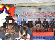 YAS Dato' Haji Soiman Bin Jahid, TKP(P) JBPM telah menyempurnakan Majlis Perasmian Penutupan Kursus Public Safety Diver (PSD) Siri 1/2019